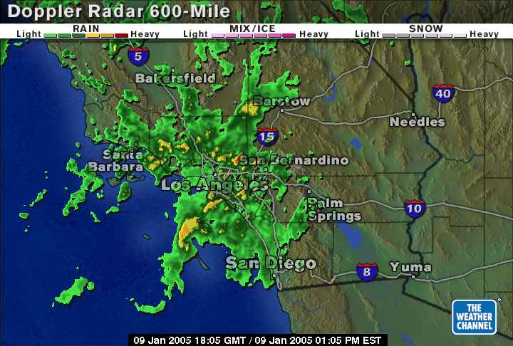 Southern California radar on my birthday