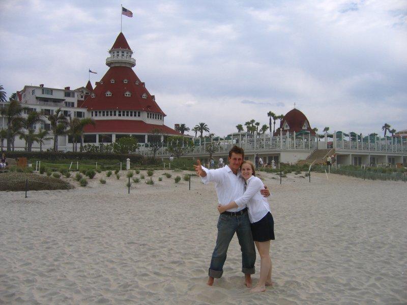 The Hotel del Coronado beach