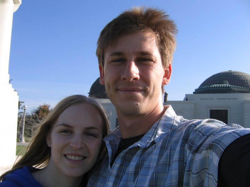 Outside the Griffith Observatory