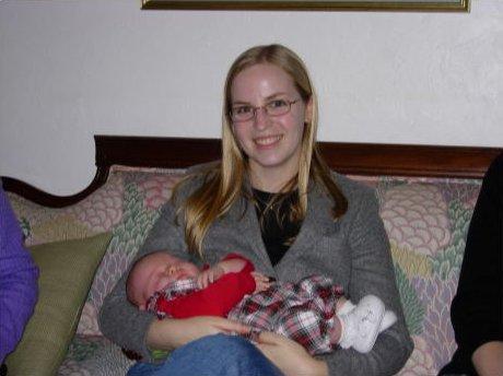 Me holding Elizabeth Saunders