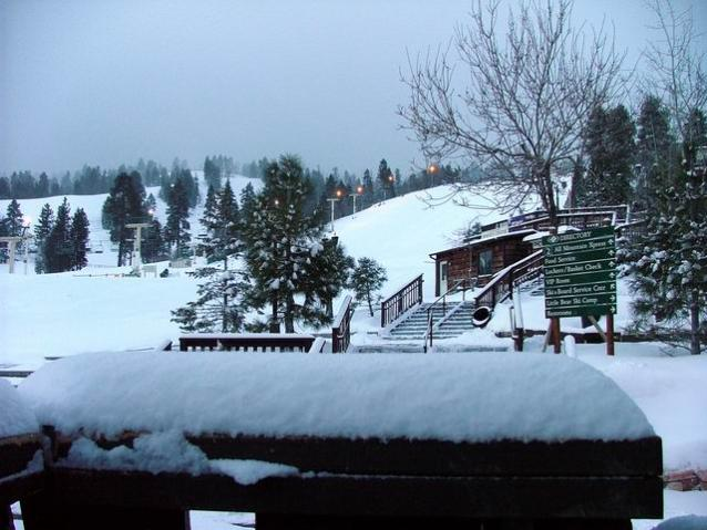 Picture of Snow Summit Resort this morning
