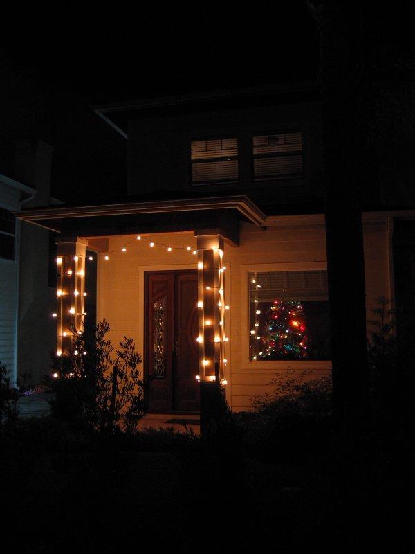 Dan's Christmas light creation (without flash)