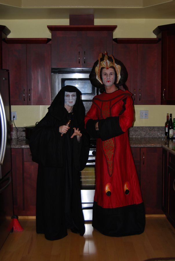 Emperor Palpatine and Queen Amidala