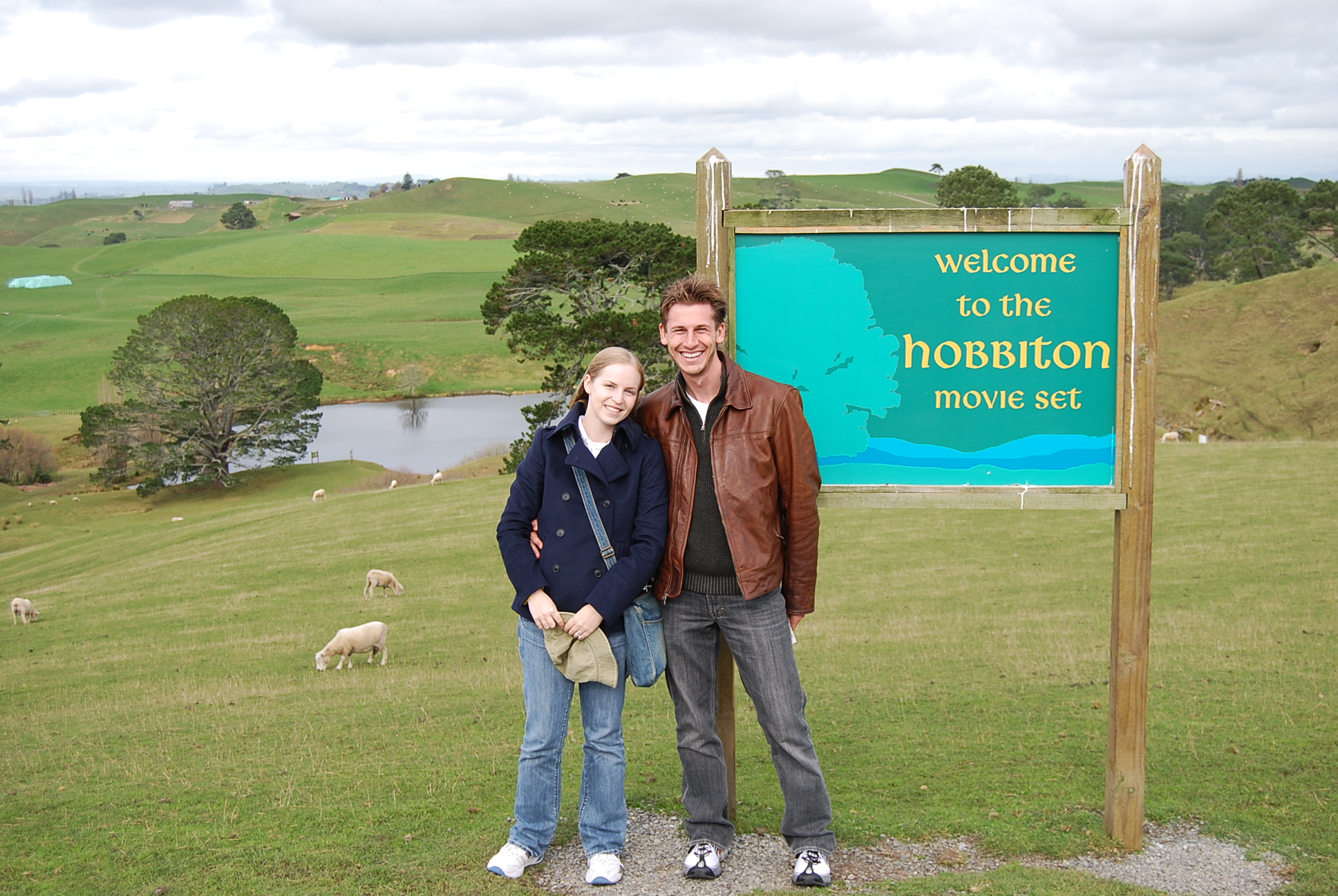 At the Hobbiton movie set in Matamata, New Zealand