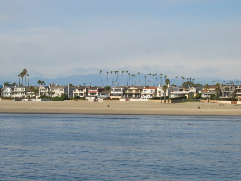 Seal Beach homes with mountains in the background on 11.21.04